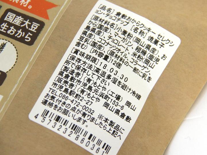 パッケージ ニコノス 食品表示