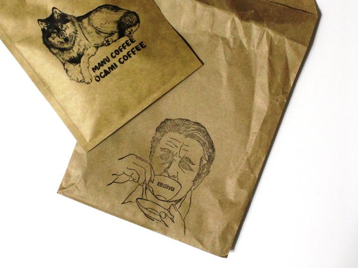 オオカミコーヒー パッケージ