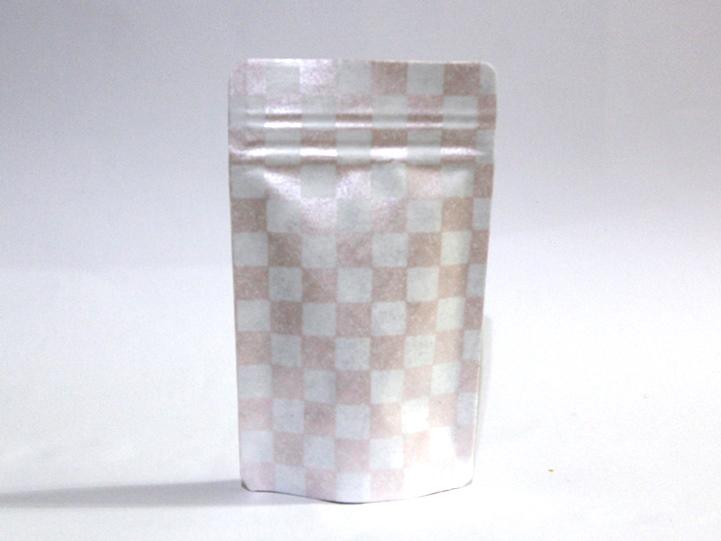 デコパージュ チャック付き袋 ピンク 市松柄